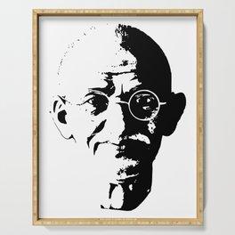 Mahatma Gandhi Minimalistic Pop Art Serving Tray