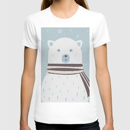 Cute Bear announces arrival of a baby boy.  illustration T-shirt