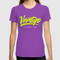 VERTIGO - LIME VERSION Womens Fitted Tee Ultraviolet SMALL