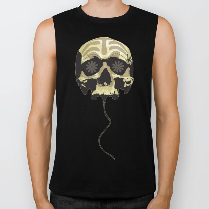 Balloon skull Biker Tank