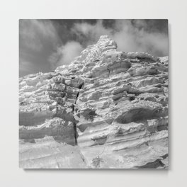 ISLAND STORIES 20 Rocky Black and White Metal Print