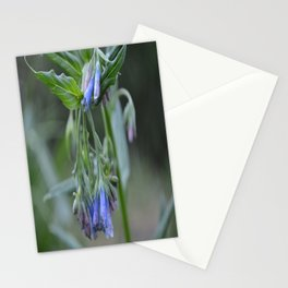 Blue Flower up in the Moutains Stationery Cards