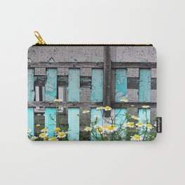 Fence and Flowers  Carry-All Pouch