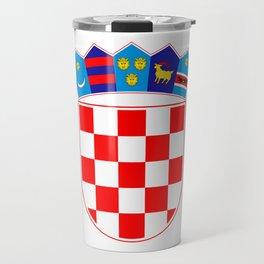 Croatia Coat of Arms Travel Mug