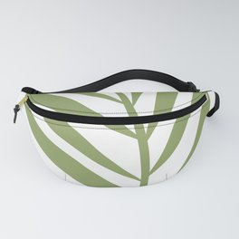 Tropical Green Leaf Fanny Pack