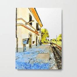 Fognano: railway station Metal Print