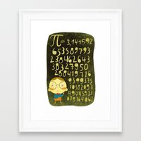 pi Framed Art Prints featuring Pi by angry bean