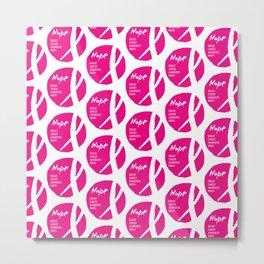 Vector watercolor pink ribbon - breast cancer awareness symbol Metal Print