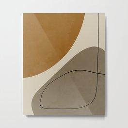 Organic Abstract Shapes #3 Metal Print