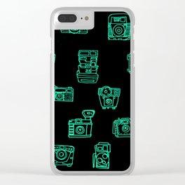 Cameras: Teal - pop art illustration Clear iPhone Case