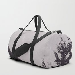 Lets Get Wild - Foggy Forest Road Nature Photography Duffle Bag