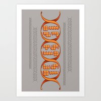 gaming Art Prints featuring Gaming DNA by Doodle Dojo