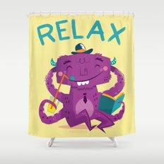 :::Relax Monster::: Shower Curtain