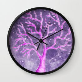 Crystalized Tree Wall Clock