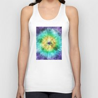 tie dye Tank Tops featuring Colorful Tie Dye Graphic by Phil Perkins