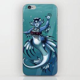 Blue Dragon Mermaid iPhone Skin
