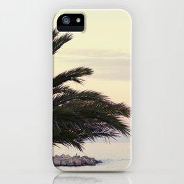Sunset in Barceloneta Beach iPhone Case