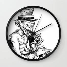 drinky monkey Wall Clock