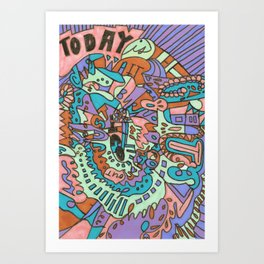 Tear My Heart Out (Orchid) Art Print