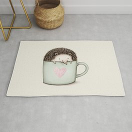 Hedgehog in a Mug Rug