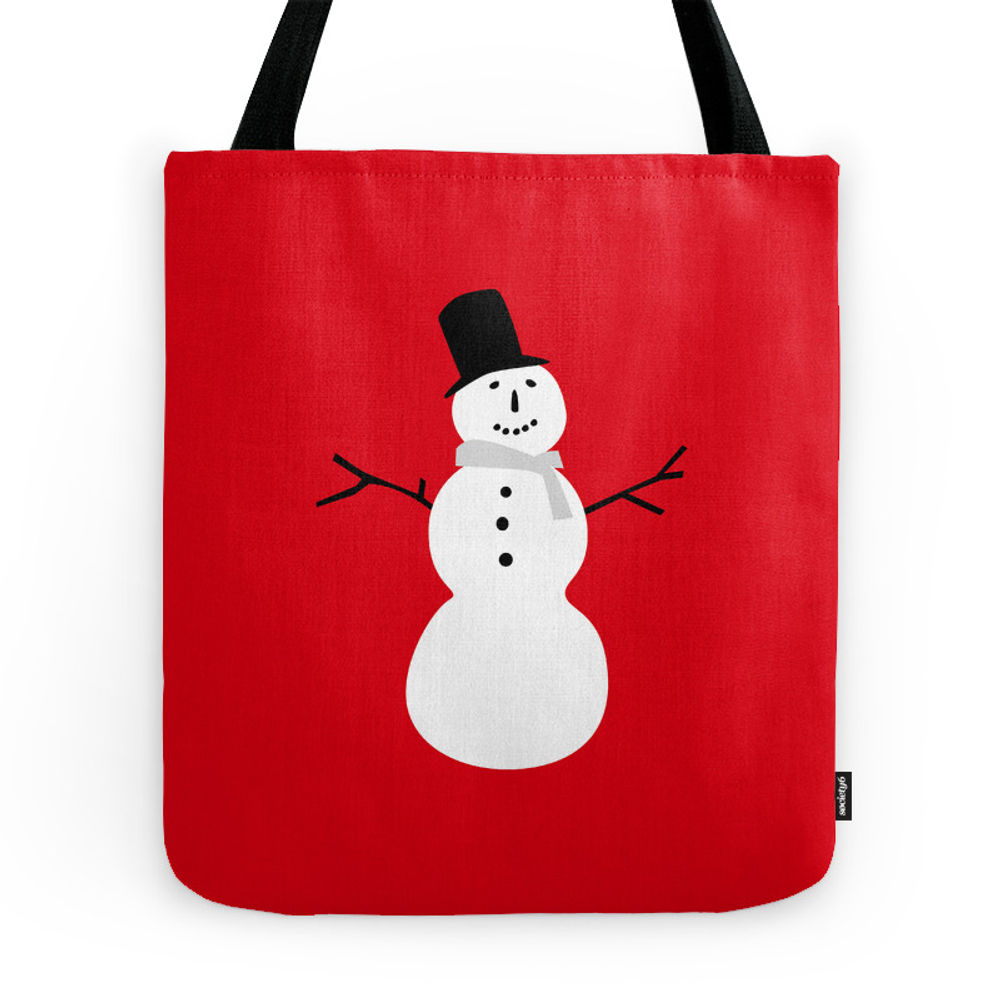 Christmas Snowman-Red Tote Purse by ts55 (TBG1764762) photo
