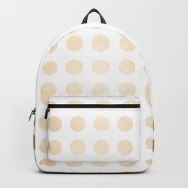 Simply Polka Dots in White Gold Sands Backpack