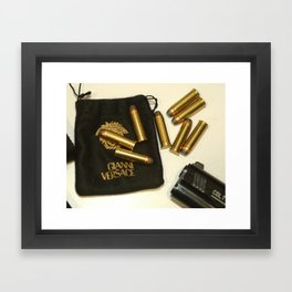 Versace Bullets Colt Framed Art Print