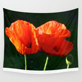 Two Oriental Poppies Wall Tapestry