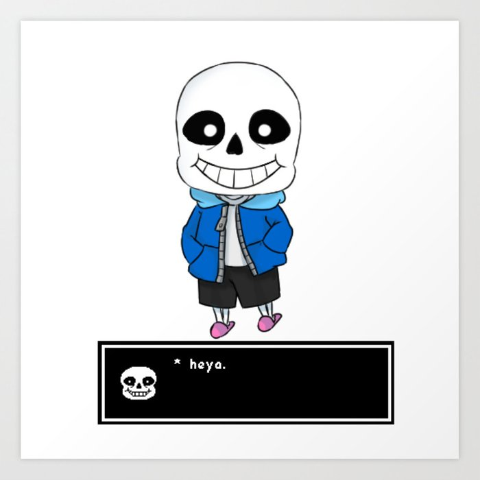Sans V 1 Undertale Art Print By Alienitynera