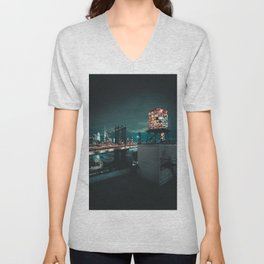 The Water Tower New York City (Color) Unisex V-Neck