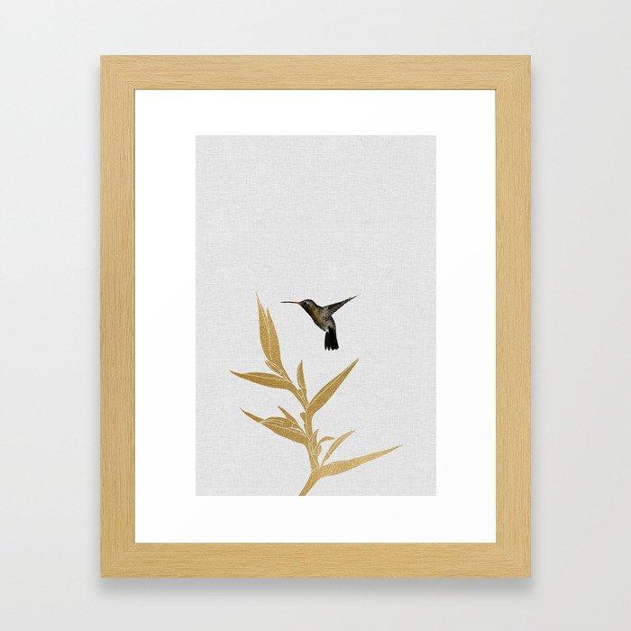 Hummingbird & Flower II Gerahmter Kunstdruck