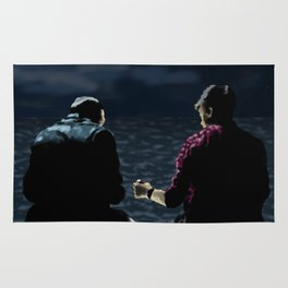 John and Rodney on the Pier Rug