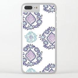 doodle ikat Clear iPhone Case