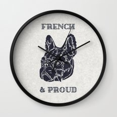French & Proud Wall Clock