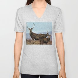 The three Stags Unisex V-Neck