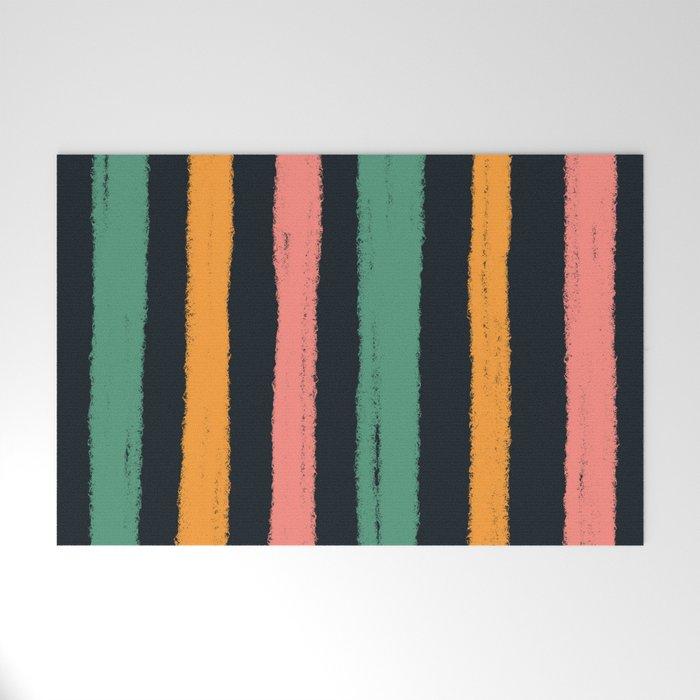 textured stripes Welcome Mat