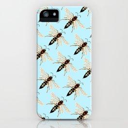 Wasp Swarm Pattern iPhone Case