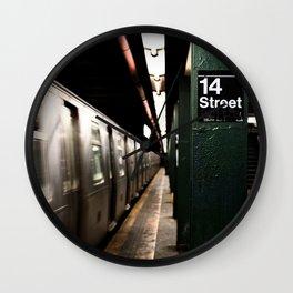 Speeding Subway Train Wall Clock