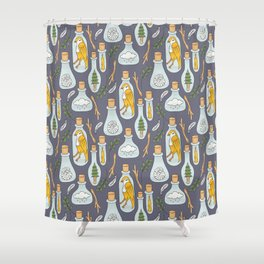 Things of Nature in Jars Shower Curtain