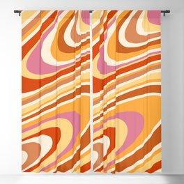 Liquid Swirl Groovy Ripple Retro 60s & 70s Pattern Blackout Curtain