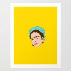 Frida / Yellow Art Print