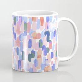 Delight Abstract Multicolor Watercolor Brush Strokes Coffee Mug