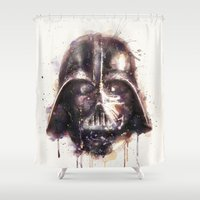 darth vader Shower Curtains featuring Darth Vader by beart24