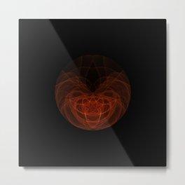 Orange Orb Metal Print