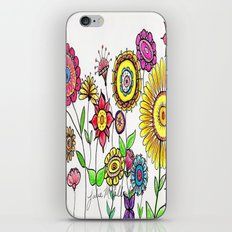 Bright Flowers iPhone & iPod Skin