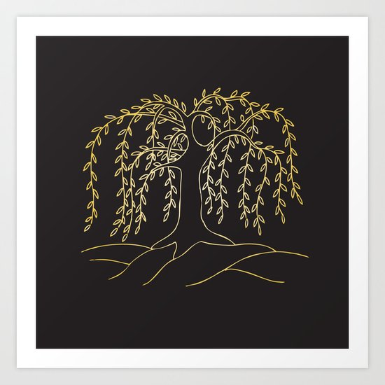 leaves down Art Print