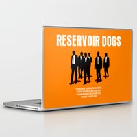 reservoir dogs Laptop & iPad Skins featuring Reservoir Dogs Movie Poster by FunnyFaceArt