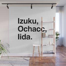 Izuku, Ochaco, Iida. Wall Mural