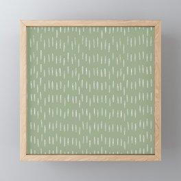 Raindrop Boho Abstract Pattern, Sage Green Framed Mini Art Print