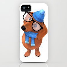 Smart Dachshund iPhone (5, 5s) Slim Case